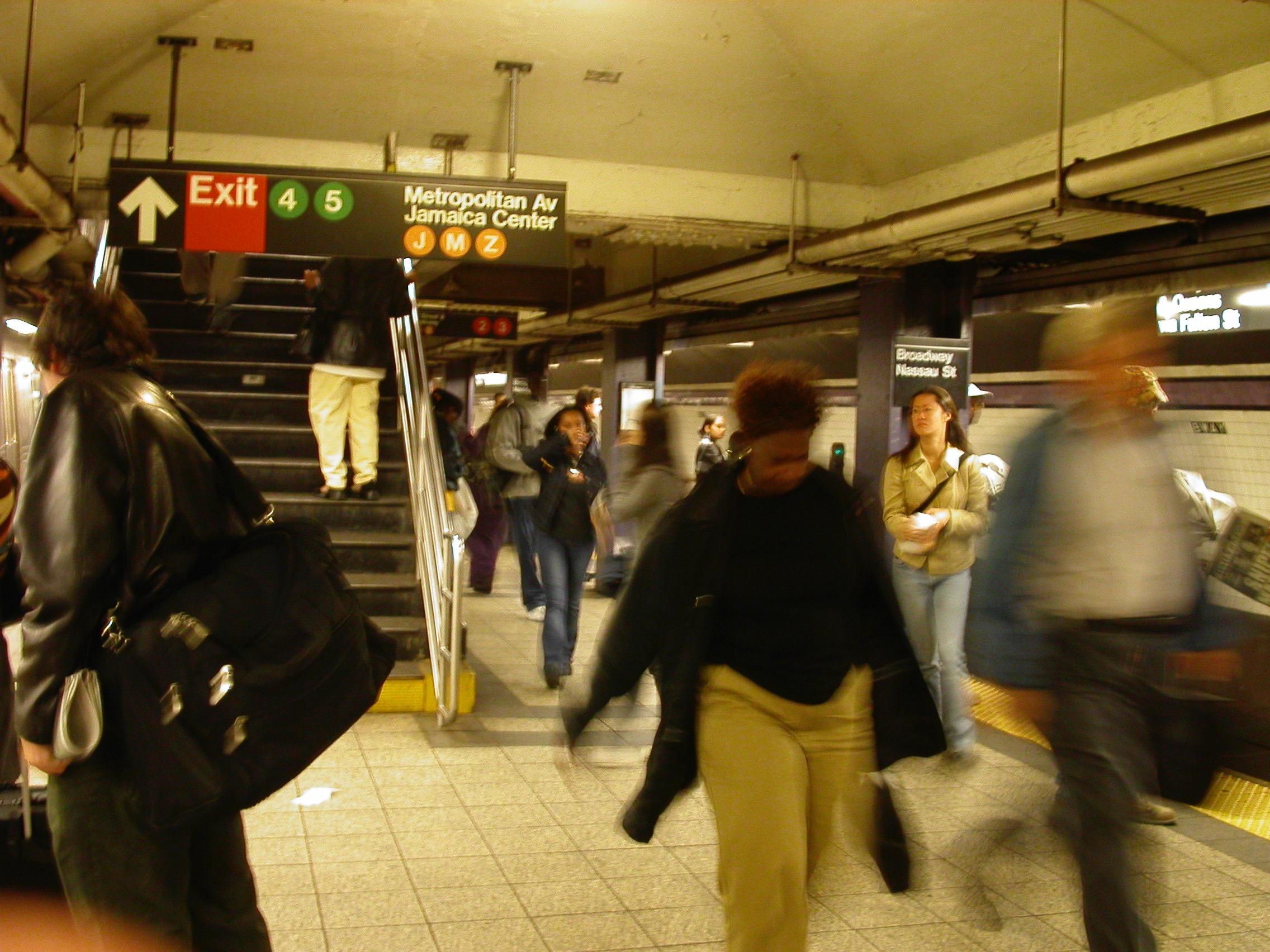 Dans le métro de New York