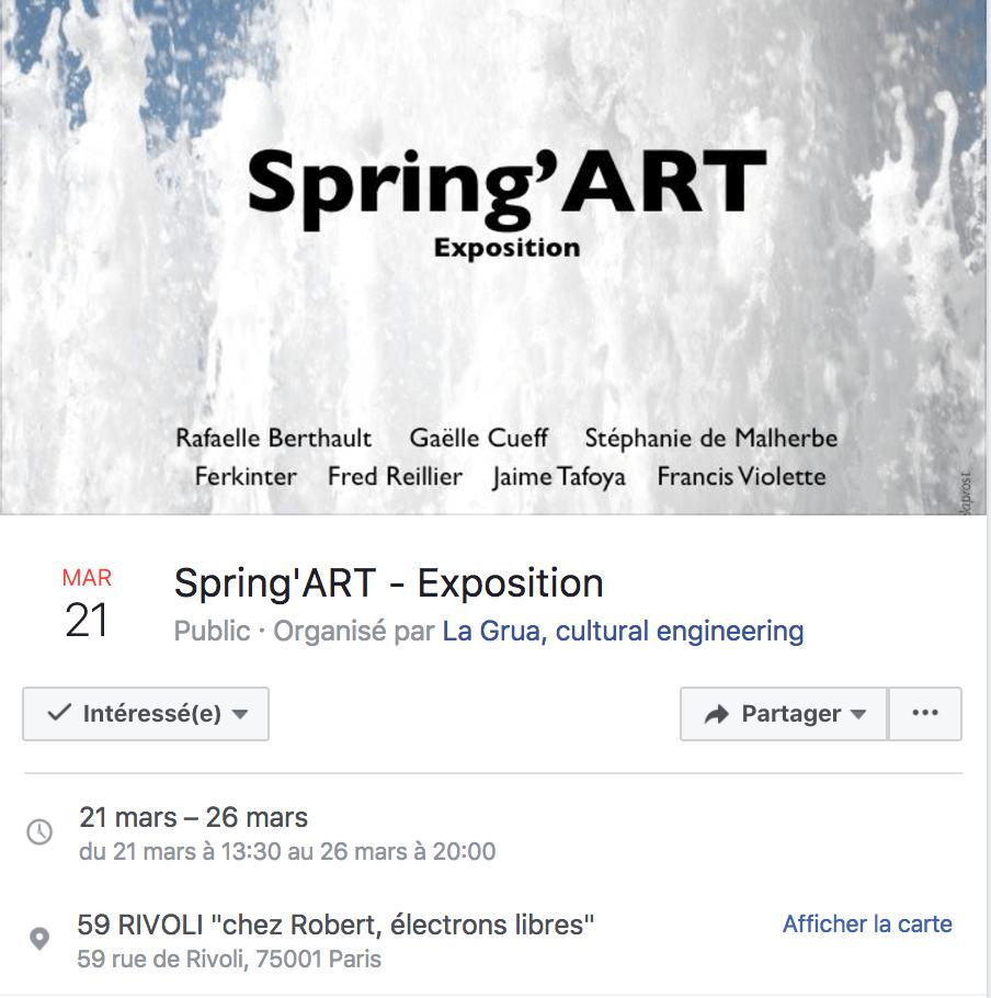 J'expose à Spring'Art