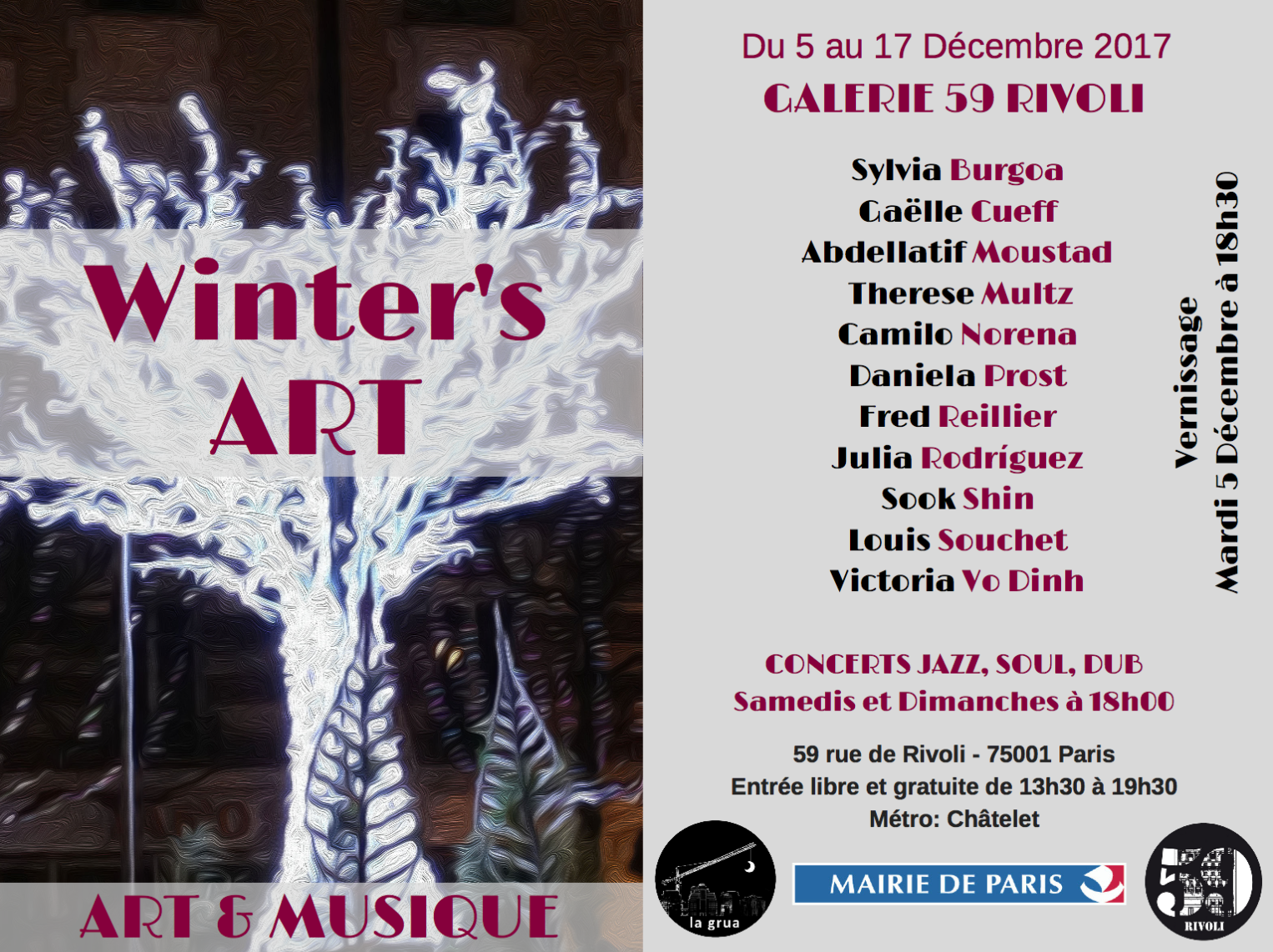 Nouvelle expo au 59 rue de Rivoli : Winter's Art